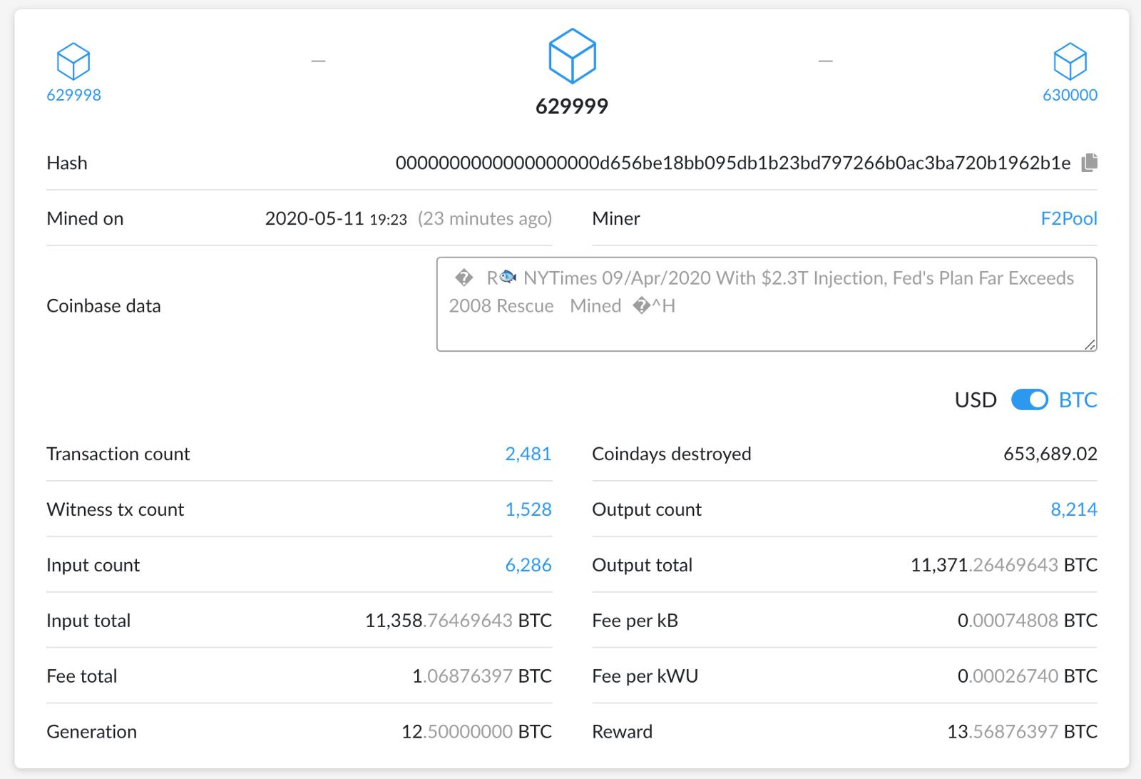 Le Bitcoin devient plus rare suite à ce bloc 629,999